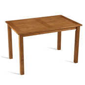 Table rectangulaire en bois de robinier 120 x 80 cm MORE - lot de 2