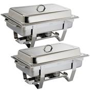 Chafing dish classique Milan - GN 1/1 x2